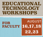 Beginning of the Year Educational Technology Workshops
